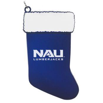 Northern Arizona University - Christmas Holiday Stocking Ornament - Blue