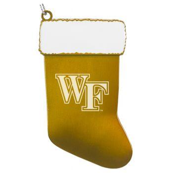 Wake Forest University - Chirstmas Holiday Stocking Ornament - Gold