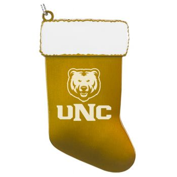 University of Northern Colorado - Chirstmas Holiday Stocking Ornament - Gold