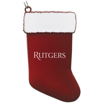 Rutgers University - Christmas Holiday Stocking Ornament - Red