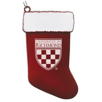 University of Richmond - Chirstmas Holiday Stocking Ornament - Red