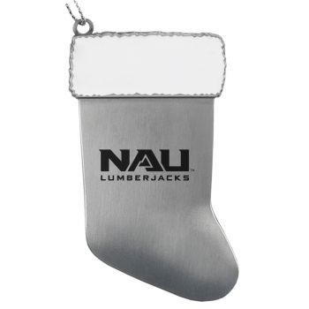 Northern Arizona University - Christmas Holiday Stocking Ornament - Silver