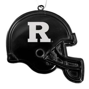 Rutgers University - Christmas Holiday Football Helmet Ornament - Black