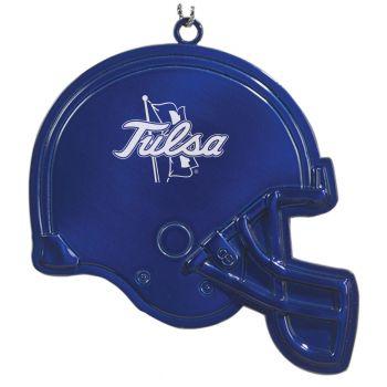 University of Tulsa - Chirstmas Holiday Football Helmet Ornament - Blue