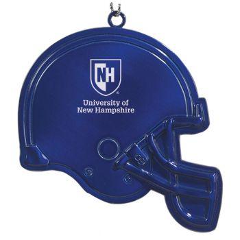 University of New Hampshire - Christmas Holiday Football Helmet Ornament - Blue