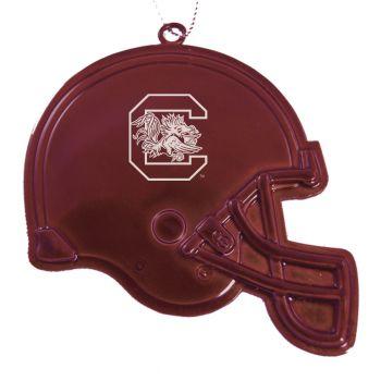 University of South Carolina - Christmas Holiday Football Helmet Ornament - Burgundy
