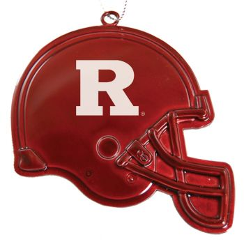 Rutgers University - Christmas Holiday Football Helmet Ornament - Red