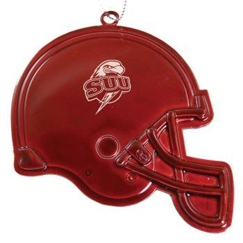 Southern Utah University - Christmas Holiday Football Helmet Ornament - Red