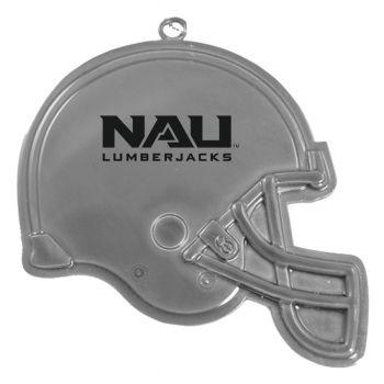 Northern Arizona University - Christmas Holiday Football Helmet Ornament - Silver