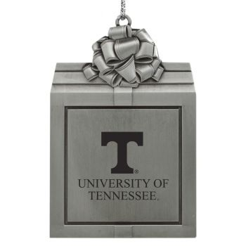 University of Tennessee -Pewter Christmas Holiday Present Ornament-Silver