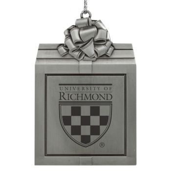 University of Richmond -Pewter Christmas Holiday Present Ornament-Silver