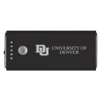 University of Denver-Portable Cell Phone 5200 mAh Power Bank Charger -Black