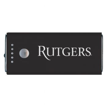 Rutgers University -Portable Cell Phone 5200 mAh Power Bank Charger -Black