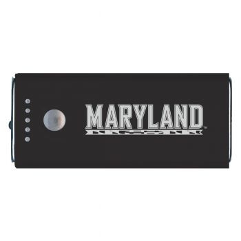 University of Maryland-Portable Cell Phone 5200 mAh Power Bank Charger -Black
