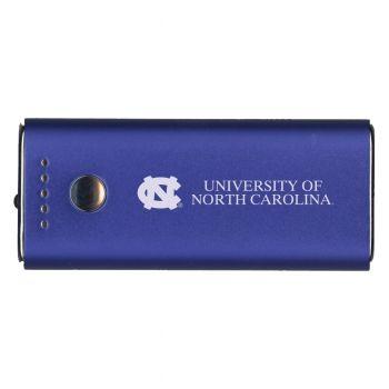 University of North Carolina-Portable Cell Phone 5200 mAh Power Bank Charger -Blue