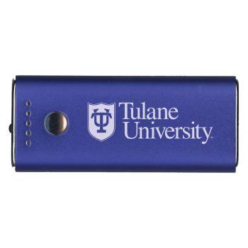 Tulane University -Portable Cell Phone 5200 mAh Power Bank Charger -Blue