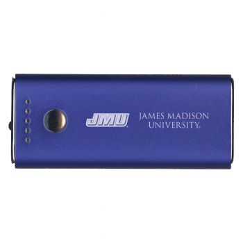 James Madison University-Portable Cell Phone 5200 mAh Power Bank Charger -Blue