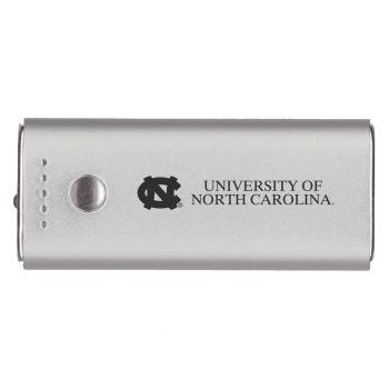 University of North Carolina-Portable Cell Phone 5200 mAh Power Bank Charger -Silver