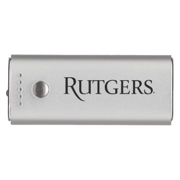 Rutgers University -Portable Cell Phone 5200 mAh Power Bank Charger -Silver