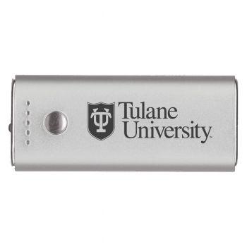 Tulane University -Portable Cell Phone 5200 mAh Power Bank Charger -Silver