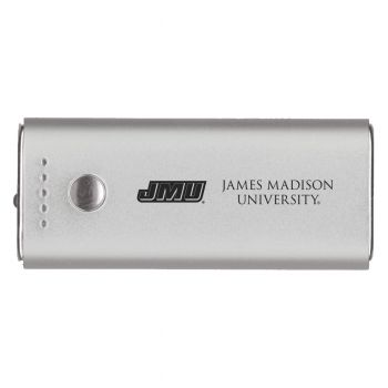 James Madison University-Portable Cell Phone 5200 mAh Power Bank Charger -Silver