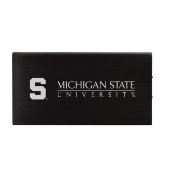8000 mAh Portable Cell Phone Charger-Michigan State University-Black