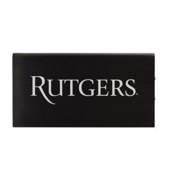 8000 mAh Portable Cell Phone Charger-Rutgers University -Black