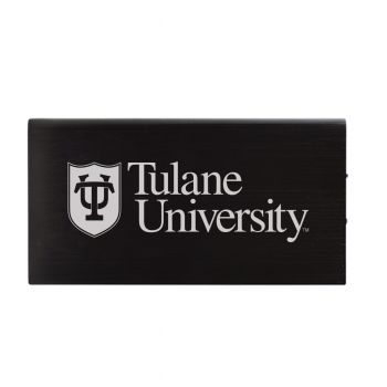8000 mAh Portable Cell Phone Charger-Tulane University -Black