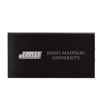 8000 mAh Portable Cell Phone Charger-James Madison University-Black