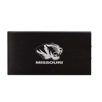 8000 mAh Portable Cell Phone Charger-University of Missouri -Black