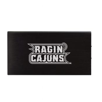 8000 mAh Portable Cell Phone Charger-University of Louisiana at Lafayette-Black