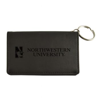 Velour ID Holder-Northwestern University-Black