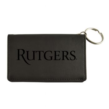 Velour ID Holder-Rutgers University-Black