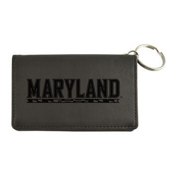 Velour ID Holder-University of Maryland-Black