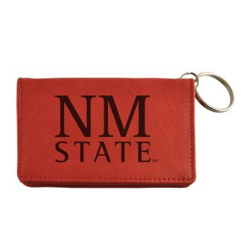 Velour ID Holder-New Mexico State-Burgundy