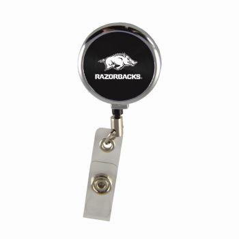 University of Arkansas-Retractable Badge Reel-Black