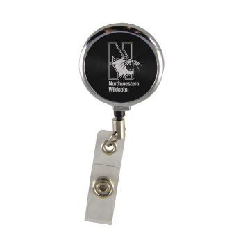 Northwestern University-Retractable Badge Reel-Black