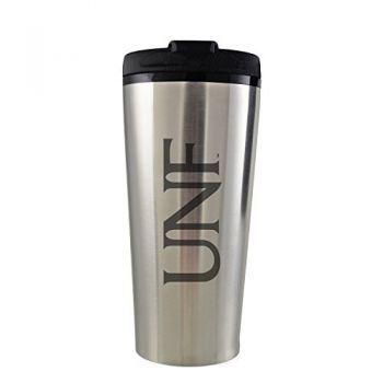 University of North Florida-16 oz. Travel Mug Tumbler-Silver
