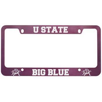 Utah State University -Metal License Plate Frame-Pink