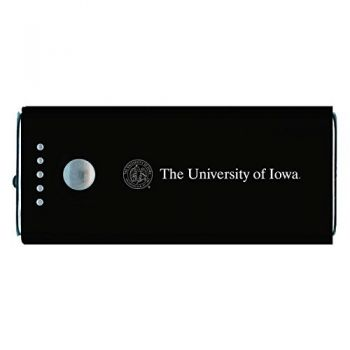 University of Iowa-Portable Cell Phone 5200 mAh Power Bank Charger -Black