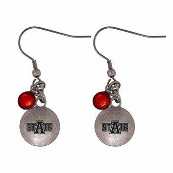 Arkansas State University-Frankie Tyler Charmed Earrings