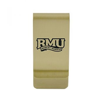 Radford University|Money Clip with Contemporary Metals Finish|Solid Brass|High Tension Clip to Securely Hold Cash, Cards and ID's|Silver