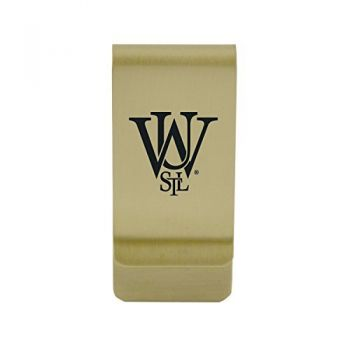 University of Virginia|Money Clip with Contemporary Metals Finish|Solid Brass|High Tension Clip to Securely Hold Cash, Cards and ID's|Silver