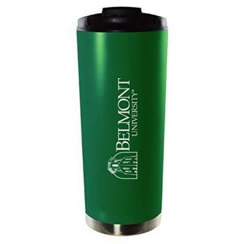 Belmont University-16oz. Stainless Steel Vacuum Insulated Travel Mug Tumbler-Green