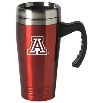 Arizona Wildcats-16 oz. Stainless Steel Mug-Red