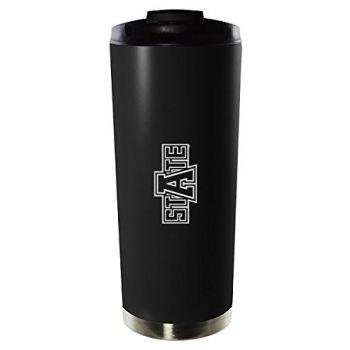 Arkansas State University-16oz. Stainless Steel Vacuum Insulated Travel Mug Tumbler-Black