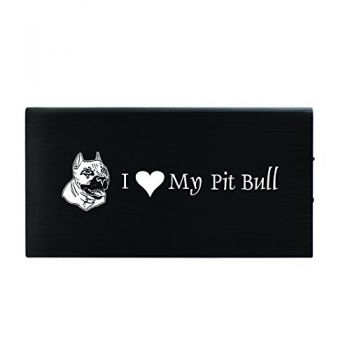 Quick Charge Portable Power Bank 8000 mAh  - I Love My Pit Bull