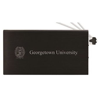 8000 mAh Portable Cell Phone Charger-Georgetown University-Black