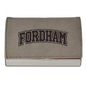 Velour Business Cardholder-Fordham University-Grey
