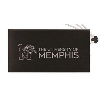 8000 mAh Portable Cell Phone Charger-University of Memphis-Black
